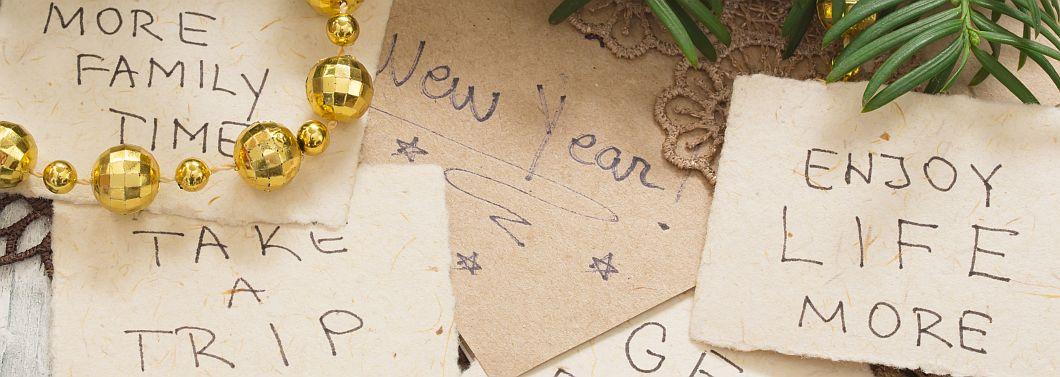 Rozliczenie z postanowień noworocznych - ilustracja