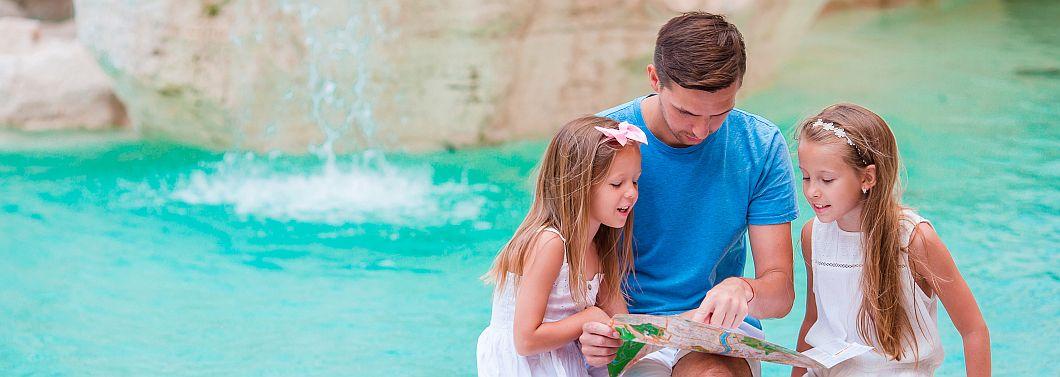 Kulturalna rodzina, czyli pomysł, jak spędzić czas z dzieckiem na mieście. - ilustracja