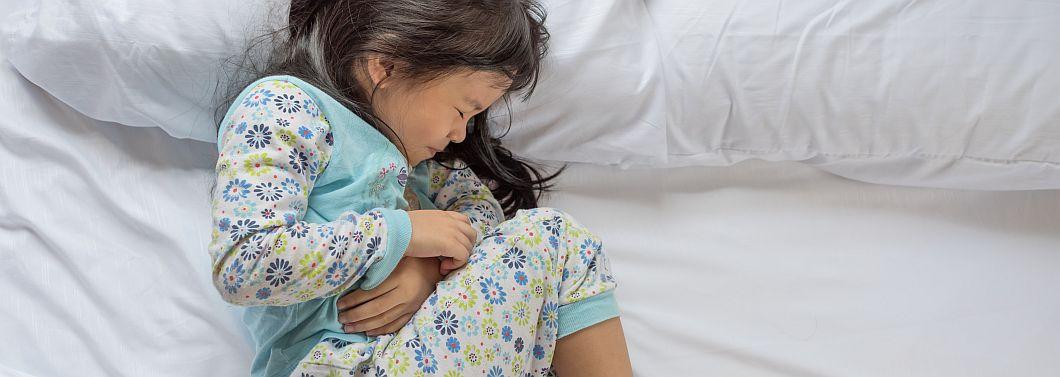 Bóle brzucha u dzieci - ilustracja