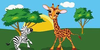 Żyrafa i Zebra - okładka
